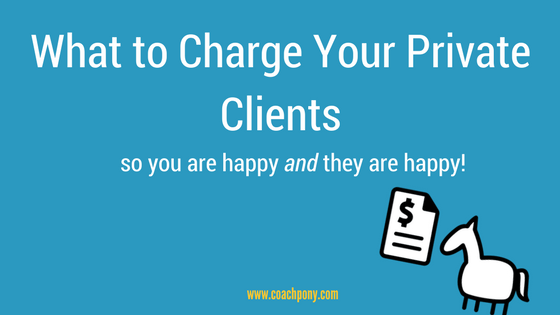 What you should charge as a private coach