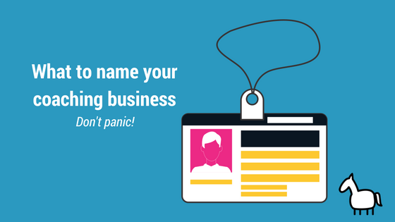 name tag what to name your coaching business
