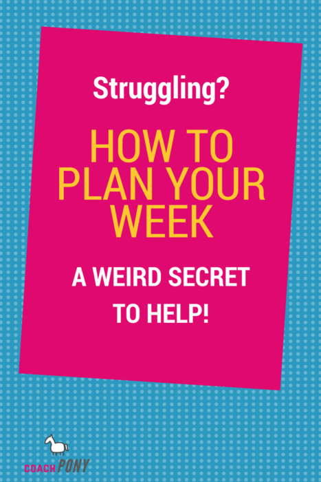 how to plan your week as a new coach