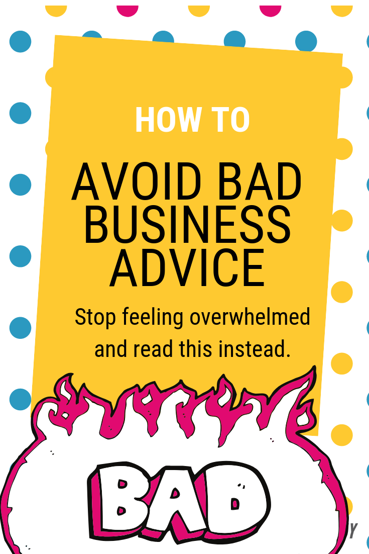 how to avoid bad business advice